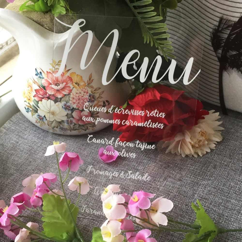 50pcs Lot Delicate Wedding Invitations Acrylic Customizable