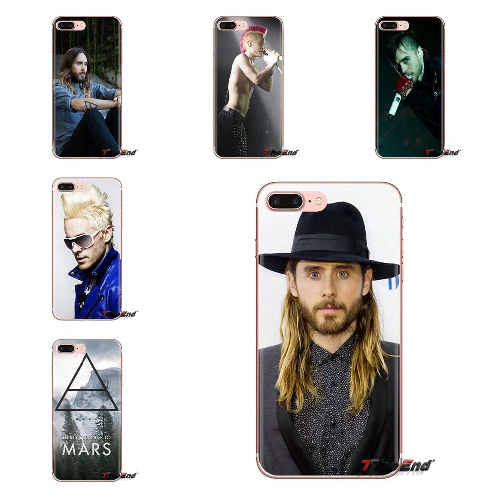 Saco Caso TPU Transparente Para Samsung Galaxy J1 J2 J3 J4 J5 J6 J7 J8 Plus 2018 Prime 2015 2016 2017 Seconds To Mars Jared Leto 30