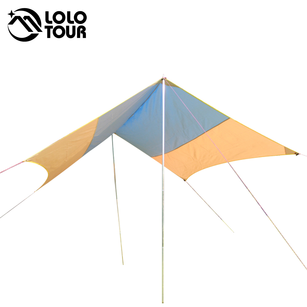 3*3m Ultraviolet sun shelter rain-proof sunshade shed outdoors Camp roof awning Tent ultralight Canopy Pergola 2 colors carpas