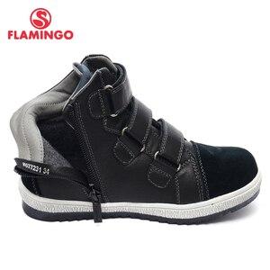 Image 5 - QWEST (فلامنغو) الخريف ورأى المضادة للانزلاق موضة أحذية أطفال طويلة الرقبة عالية الجودة الاطفال أحذية للبنين حجم 31 36 شحن مجاني W6XY231/232