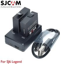 Оригинальный SJCAM SJ6 Легенда двойной Порты USB Зарядное устройство + 2 шт. очень Перезаряжаемые литий-ионные аккумуляторы для SJ 6 4 К Wi-Fi спорт действий Камера