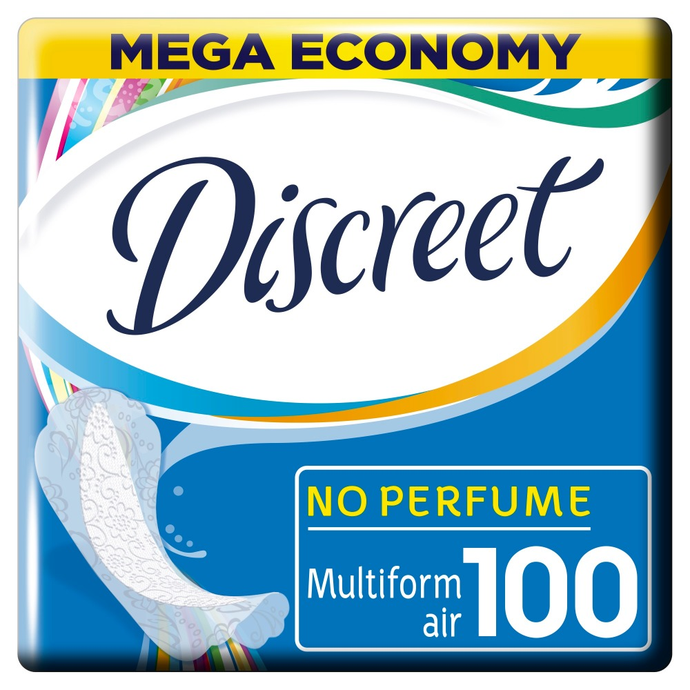 DISCREET Women's sanitary pads for every day Air Multiform 100 pcs