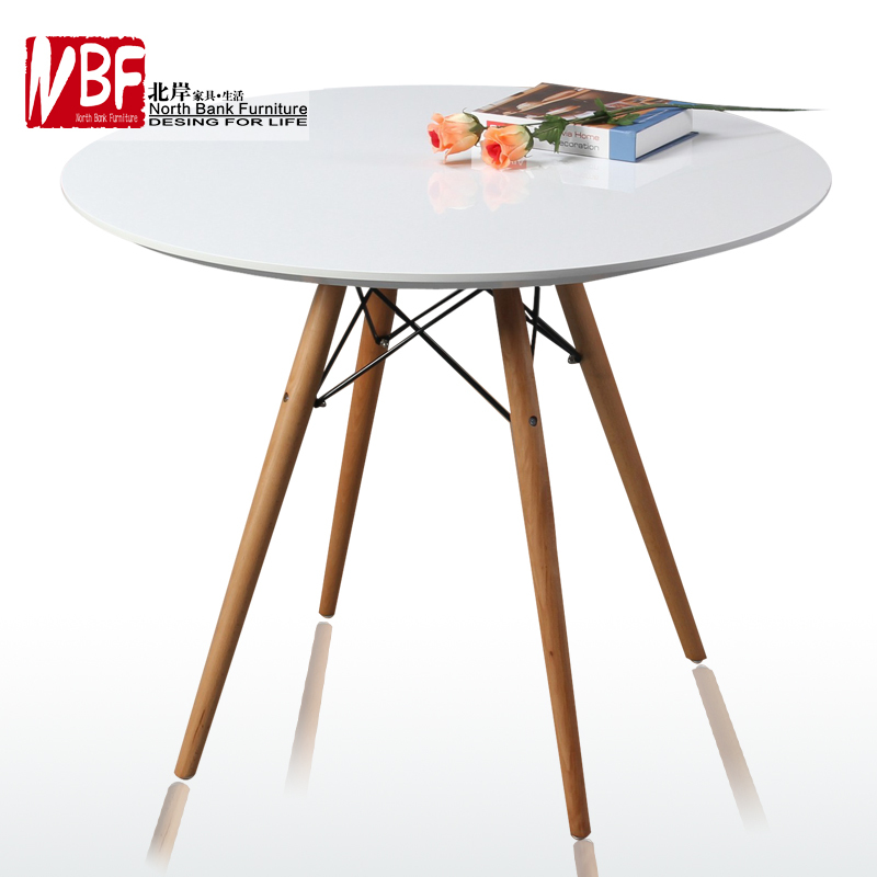 Small Round Dining Table Set: North Shore IKEA Furniture Wood Round Dining Table