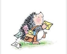Hedgehog messenger Transparent Klar Briefmarken pelz DIY Scrapbooking/Karte, Der/Kinder Weihnachten Spa Dekoration Lieferttampons
