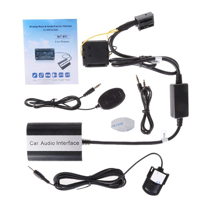 Kit mains libres Bluetooth pour voiture Interface adaptateur MP3 AUX pour RD4 Peugeot citroën