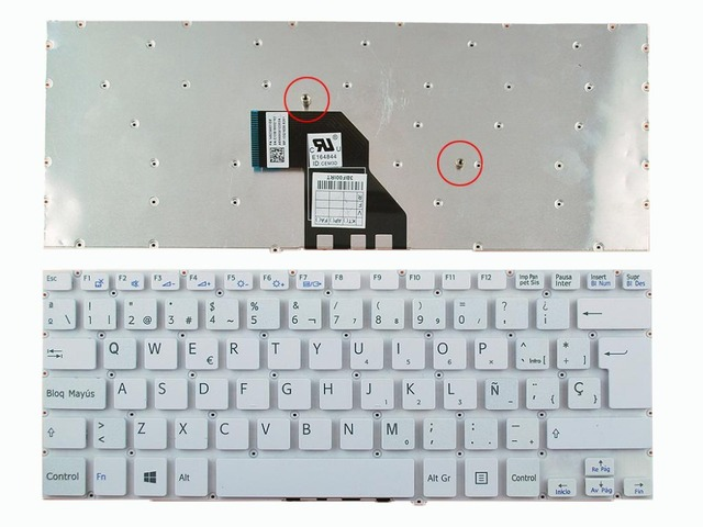 New SP Laptop Keyboard For SONY SVF 14 WHITE Without FRAME Win8 ...