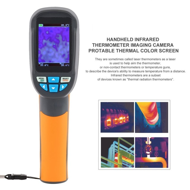 Handheld Infrared Thermometer Imaging Camera Precision Protable Thermal Imager 2.4 Inch High Resolution Color Screen