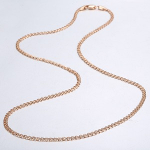 3mm Thin Necklace For Women Girls 585 Rose Gold Link Chain Necklace Woman Wholesale Jewelry Hot Valentines Gifts 50.5cm GN462