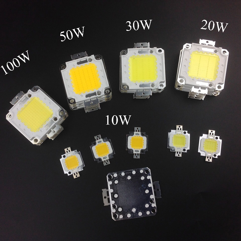 Super Bright DIY Led Lamp Source10W 20W 30W 50W 100W High Power Chip For LED Floodlight Lamp White / Warm White Outdoor Light F