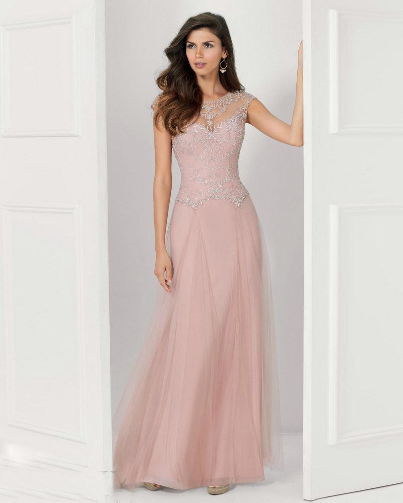 Style 71120 Pewter Blush Mother Groom Dresses Floor Length