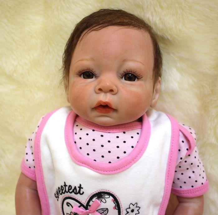 SHINEHENG 51cm Soft Body Vinyl Reborn Baby Doll Toy for Girls Newborn Baby Birthday Gift Child Bedtime Early Education Toy