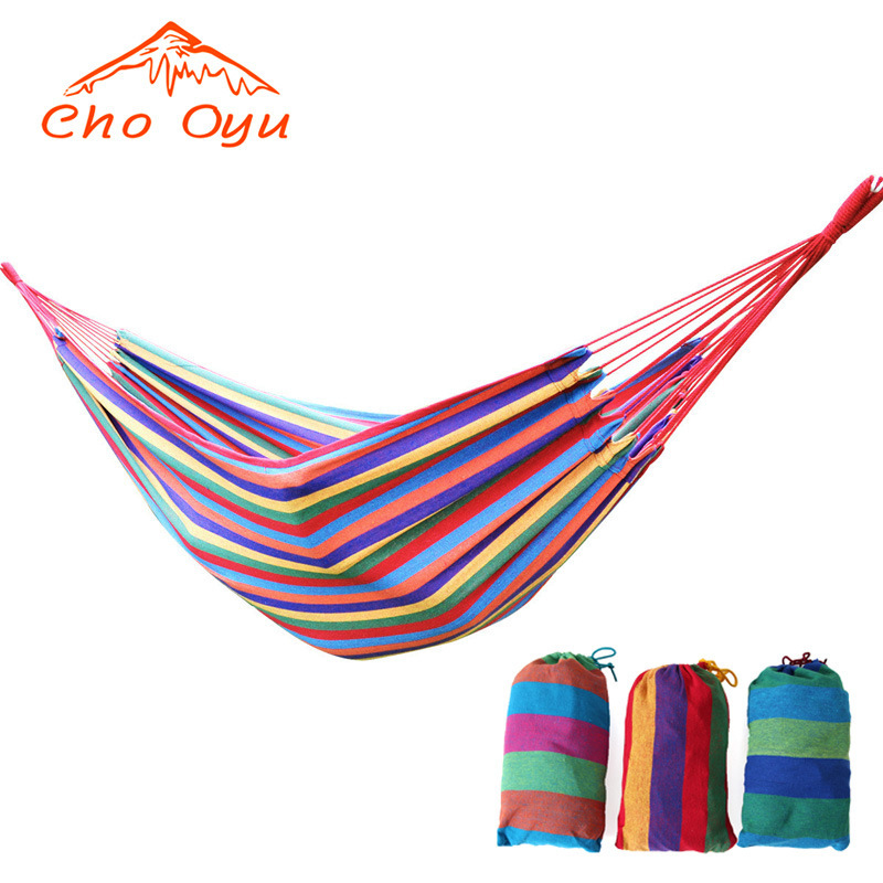 цена на free shipping Outdoor Portable Cotton Rope Outdoor Swing Fabric Camping Hanging Hammock Canvas Bed 190*80cm OM