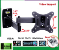 10-26 inch LCD LED Monitor Holder TV Wall Mount Full Motion Swivel Tilt Bracket Swing Arm      EML602