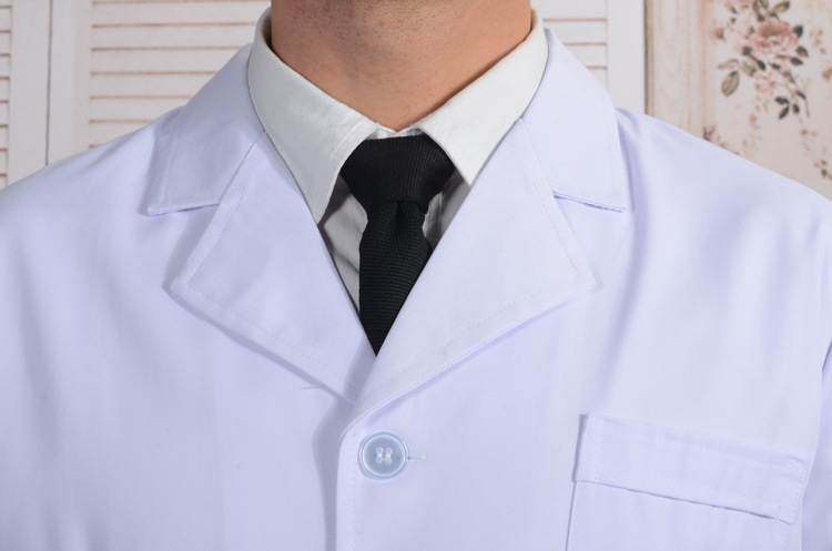 Doctors White Gown Pockets Single Breasted Doctors Work Wear Lab ...
