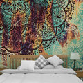 Indian Mandala Tapestry Bohemian Polyester Wall Hanging Table Cloth Curtain Blanket Yoga Mat Blanket Sandy Beach Rug