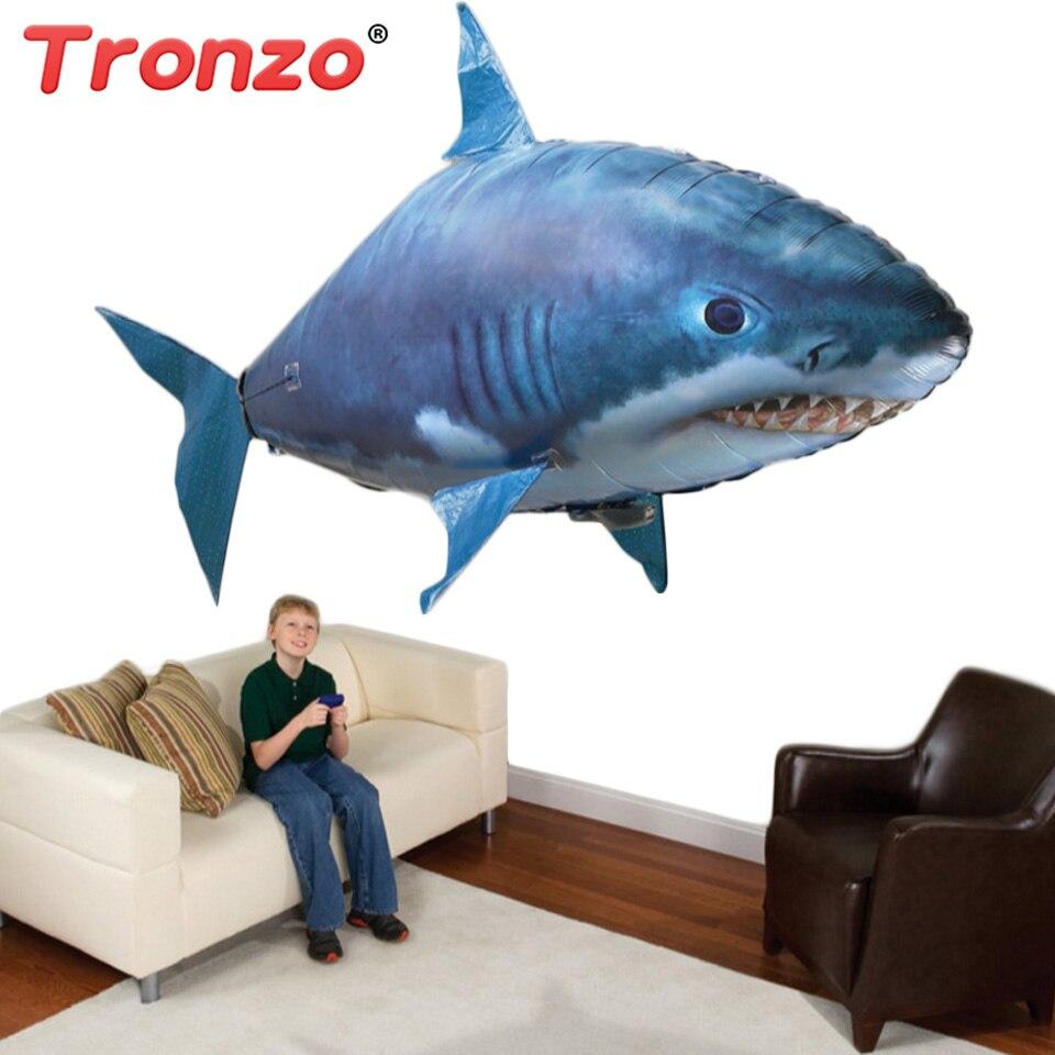 Tronzo 150 cm Jumbo RC Air Schwimmen Shark Goldfisch Aufblasbare Ballon Elektrische RC Aufblasbare Spielzeug Geburtstag Geschenk Für Kinder Jungen mädchen