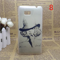 1 Pcs Cute Painted Cartoon Transparent Side Back Cover Hard Plastic Phone Case For HTC Desire 600 Dual SIM 606W