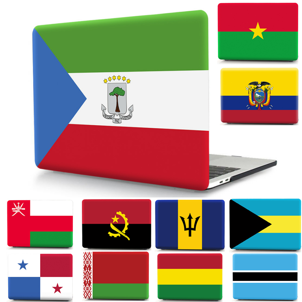 National Flag Pattern Cover Case For Apple Macbook Air Pro Retina 11 12 13 15 Laptop Shell for Mac Air 13 3 15 4 touch bar in Laptop Bags Cases from Computer Office