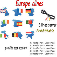 SATXTREM AV Cable DVB-S/S2 Satellite receiver Clines server 1 Year 5 lines for Satellite TV Receiver Fast&Stable Europe/Spanish