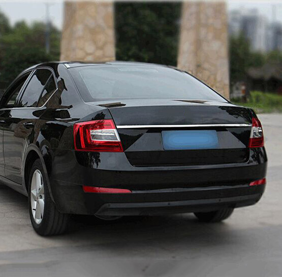 Подходит для Skoda Octavia A7 2013 хромированная Задняя Крышка багажника Отделка крышки багажника Отделка Литья