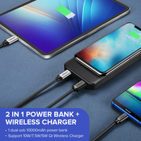 Ugreen 10000mAh Qi Wireless Charger Power Bank 18W USB PD Powerbank For iPhone X 8 Macbook Samsung S9 External Battery Poverbank 2