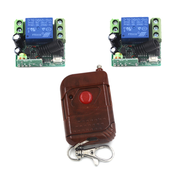 Free shipping Switch Wireless DC 12V 10A Relay Long Distance Wireless Remote Control Light Switch with Case 315 433mhz 12v 2ch remote control light on off switch 3transmitter 1receiver momentary toggle latched with relay indicator