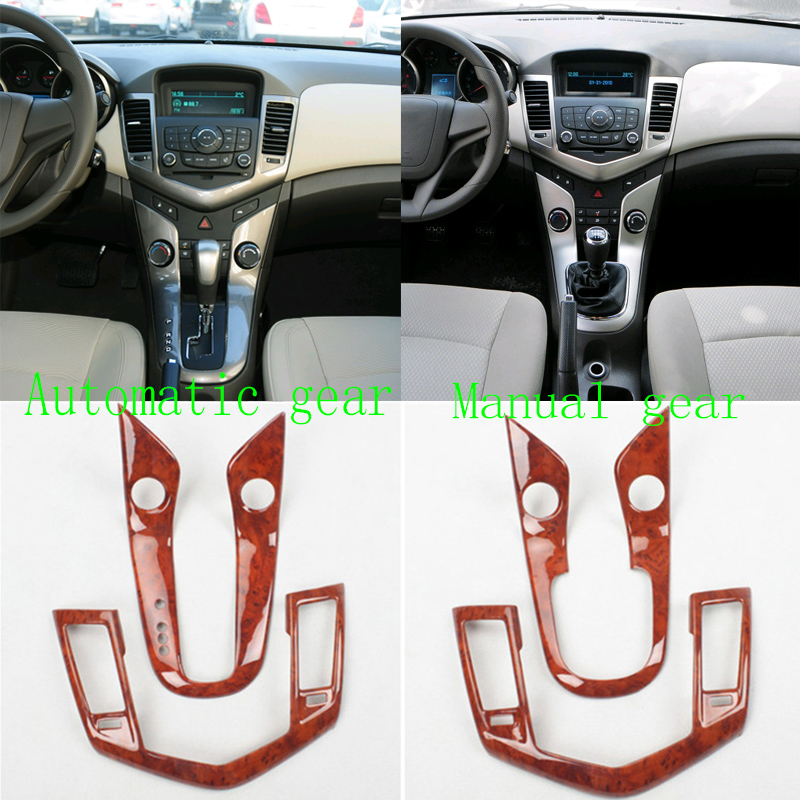 For Chevrolet Cruze 2009 2015 Central console Woodgrain gear panel trim cover Air conditioning outlet cover