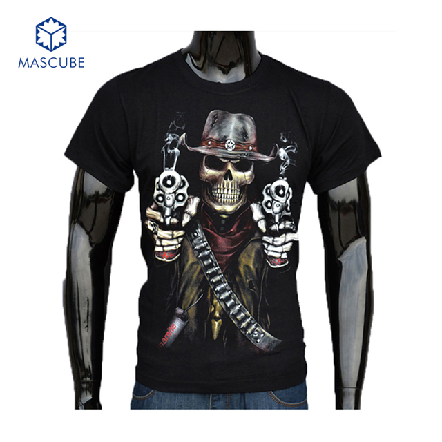 Hot Sale Summer Cool Fashion Men's Clothing O-neck Short Sleeve Shirt Men 3d T Shirt Fancy Skull Brand T Shirt Tops Tees for Man