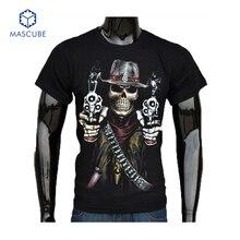 Hot Sale Summer Cool Fashion Men's Clothing O-neck Short Sleeve Shirt Men 3d T Shirt Fancy Skull Brand T Shirt Tops Tees for Man