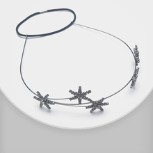 Star asymmetrical design with fashionable shiny headbands