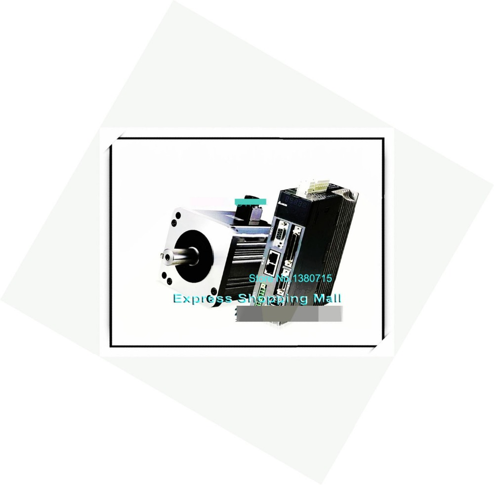 ECMA-E11310SS+ASD-A2-1021-L 4.77NM 220V 1kW 2000r/min 130mm AC Servo Motor & Drive kit brake Cable new original hf sp102 1kw 2000r min ac servo motor