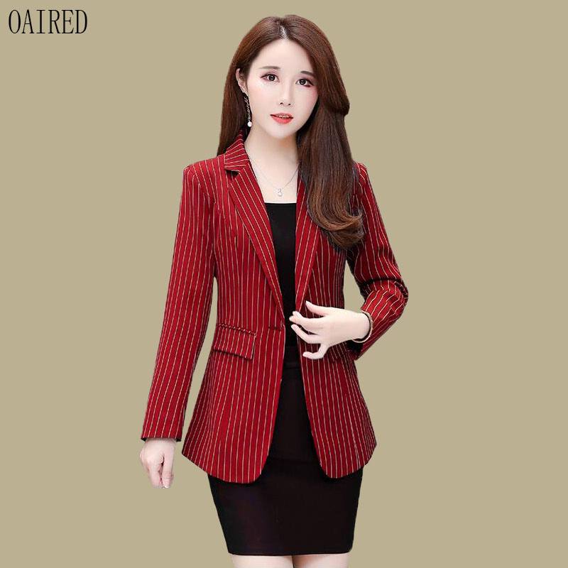 Blazer Women Clothing New 2019 Fashion Blazers Women Suits Short Slim Spring And Autumn Coat Suit Female Outerwear Black Red(China)