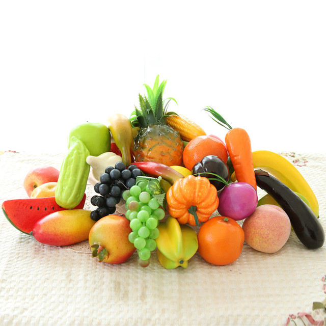 Artificial Fruit Emulation Fruits And Vegetables With Plastic Fruits  Wedding Party Shoot Props Home Decoration Fruit