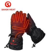 Тепло Спаситель с подогревом перчатки 5 пальцев и задняя сторона водонепроницаемый отопление ветрозащитный езда катание на лыжах на открытом воздухе спорт зима держать потепление