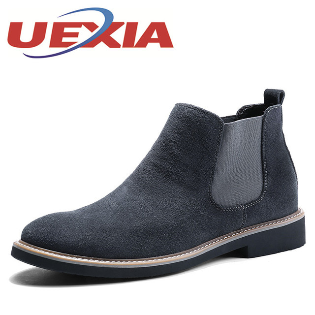 Men Casual Trend of Fashion Pu Breathable Outdoor Suede Walking Flat Ankle Shoes - Gray 43 comfortable cheap price 0Wr7twWT2P