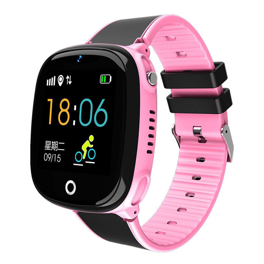 Pedometer Smartwatch Phone-Call Waterproof Android Kids Children Safe LCD for SOS Voice-Chat