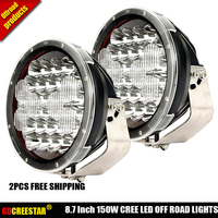 150W 9 inch Round High Intensity 150 Watt LED Driving Light For 4x4 4wd SUV ATV off road Truck Car Lights x2pcs Free Shipping