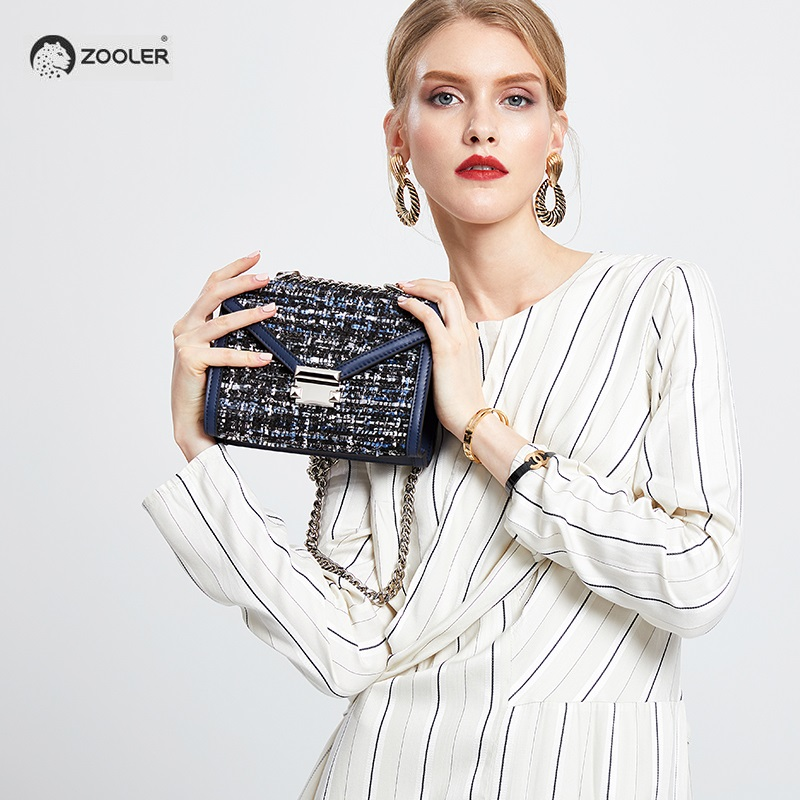 ZOOLER brand crossbody bags for women leather Woolen woman shoulder bag small messger bags Fashion 2019