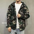 Men's fashion hiphop camouflage windbreaker jacket men new spring short causal Motorcycle jacket outwear hooded autumn coat