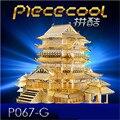 TengWang Pavilion P067-G Игрушки 3D Головоломка DIY Piececool Металлические Модели, головоломки 3D Металл Модель Brinquedos, Игрушка в подарок, Игрушки Для Детей