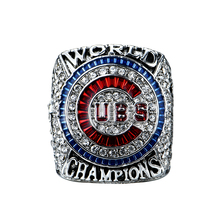 Drop Shipping 2016 Version Officielle Chicago Cubs Bryant/Rizzo/Zonbrist Baseball MLB Solide Championnat Anneau Taille 8-14