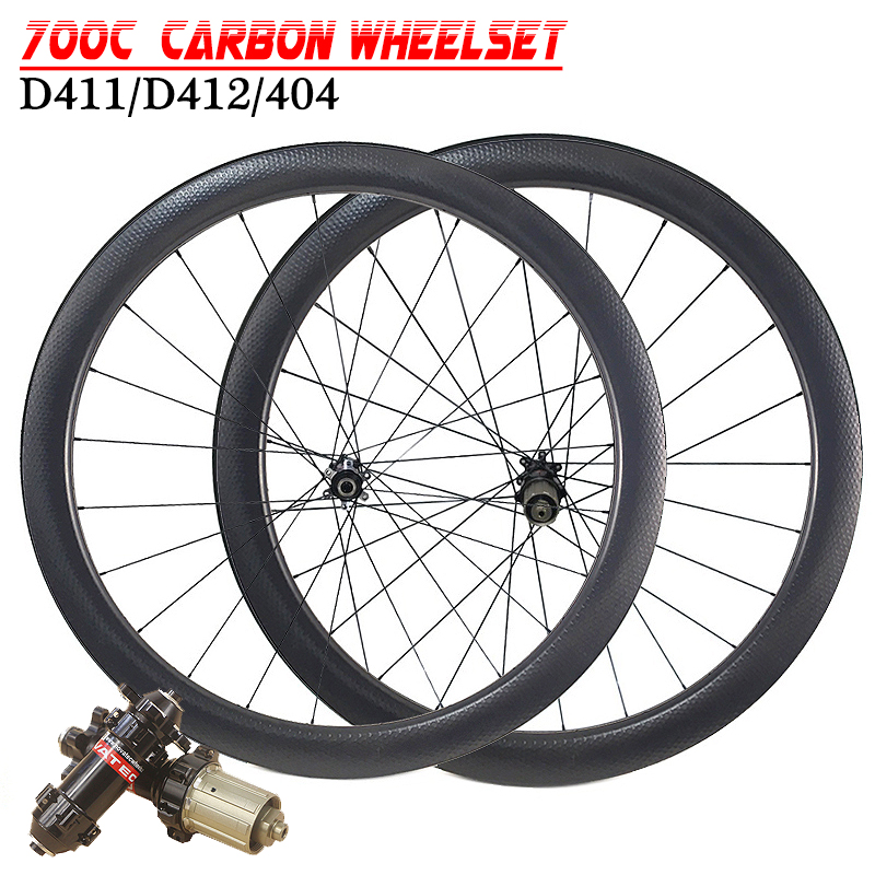 Carbon Dimple Wheels 45mm Depth Carbon Wheelset Disc Brake Wheels Clincher Tubular 700C Wheelset D411/D412/404 Carbon Wheel