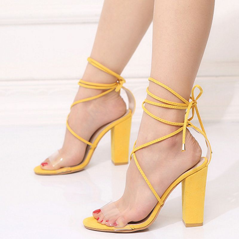 Coolcept Size 34-43 High Heels Gladiator Sandals Women Cross Strap Party Sexy Summer Shose Women Fashion Club Footwear