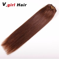 V.girl Hair Full Head Brazilian Machine Made Remy Hair 100G 200G Blonde 7Pcs set Natural Straight Clip In Human Hair Extensions