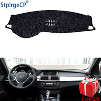 Latest Rose Pattern Non slip Car Dashboard Cover Dash Mat Pad DashMat ANti UV Car Sticker for BMW X6 2008 2019 Car Styling