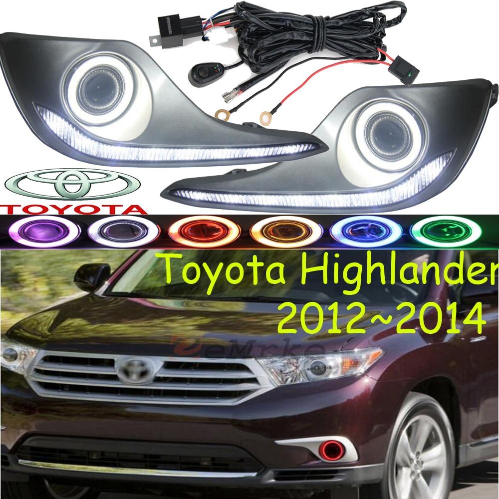 Здесь можно купить   Highlander fog light LED,2012~2014;Free ship!Highlander daytime light,2ps/set+wire ON/OFF:Halogen/HID XENON+Ballast,Highlander Автомобили и Мотоциклы