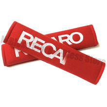 1 Pair Car Styling AccessoriesRed racing seat belt shoulder pads Cover Cushion for RE*CARO SPARC Racing Style(China)
