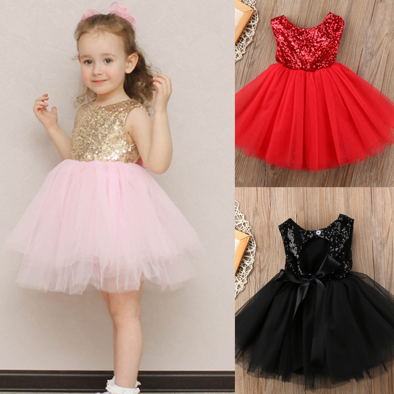 Summer Kids Infant Baby Girls Lace Party Princess Tutu Dresses Holiday Sundress