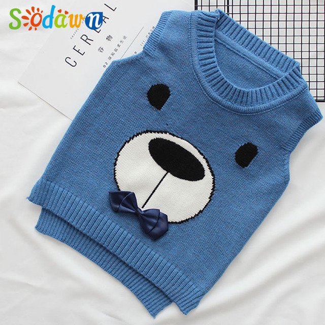 9ef62e929848 Sodawn New Autumn Children Clothes Sweater Boys Clothes Knitted Vest ...