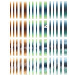 Image 2 - 1 Pcs 3D Nail Stickers Gradient Gestreepte Lijnen Tape Multi Size Zelfklevende Nail Decoratie Sticker Diy Manicure nail Decals 2019